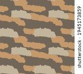 brown brush stroke fur pattern... | Shutterstock .eps vector #1945173859