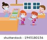 elementary school students...   Shutterstock .eps vector #1945180156
