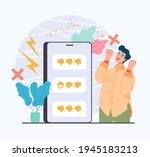 social media harassment... | Shutterstock .eps vector #1945183213