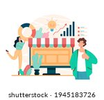 online web internet business... | Shutterstock .eps vector #1945183726