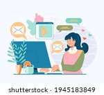 woman girl teen character... | Shutterstock .eps vector #1945183849