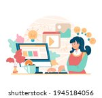 woman girl character user... | Shutterstock .eps vector #1945184056