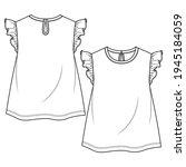 baby girls frill sleeves top...   Shutterstock .eps vector #1945184059