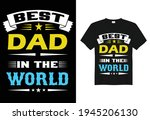 best dad in the world  daddy t... | Shutterstock .eps vector #1945206130