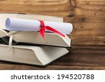 a parchment diploma scroll ... | Shutterstock . vector #194520788