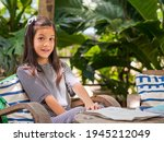 portriat image of 8 years old...   Shutterstock . vector #1945212049