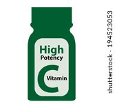 green high potency c vitamin... | Shutterstock . vector #194523053