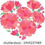 the carnation bouquet made from ... | Shutterstock .eps vector #1945237489