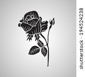 rose. vector illustration. | Shutterstock .eps vector #194524238