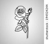 rose. vector illustration. | Shutterstock .eps vector #194524244