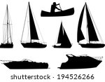 A Set Of Silhouettes Of A...