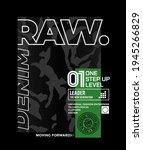 raw denim  modern and stylish... | Shutterstock .eps vector #1945266829