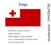 tonga national flag  country's...   Shutterstock .eps vector #1945284730