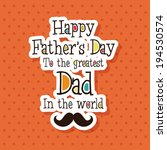 abstract father's day...   Shutterstock .eps vector #194530574