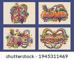peace symbol  love  peace and...   Shutterstock .eps vector #1945311469