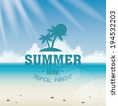 abstract summer vacation...   Shutterstock .eps vector #194532203