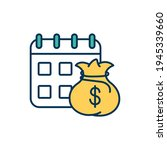 monthly financial report rgb...   Shutterstock .eps vector #1945339660