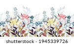 vector floral decorative... | Shutterstock .eps vector #1945339726