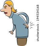 a cartoon woman grimaces from... | Shutterstock .eps vector #194534168