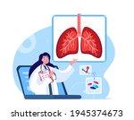 online pulmonologist virologist ...   Shutterstock .eps vector #1945374673