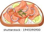 top view of bread breakfast... | Shutterstock .eps vector #1945390900