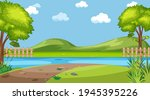 blank landscape in nature park... | Shutterstock .eps vector #1945395226