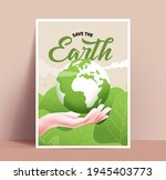 save the earth poster or card...   Shutterstock .eps vector #1945403773