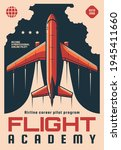 flight academy retro vector... | Shutterstock .eps vector #1945411660