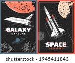galaxy explorer retro vector... | Shutterstock .eps vector #1945411843