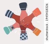 cartoon vector illustration of...   Shutterstock .eps vector #1945418326