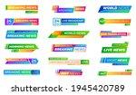 breaking news bars. text frames ...   Shutterstock .eps vector #1945420789
