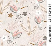 seamless childish pattern with... | Shutterstock .eps vector #1945424689