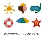 plasticine modeling summer...   Shutterstock .eps vector #1945429783