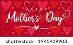happy mothers day poster with...   Shutterstock .eps vector #1945429903