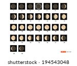30 steps to take Lunar phases., vector eps 10