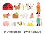 farm objects. man and woman... | Shutterstock .eps vector #1945438306