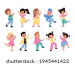 kids dancing. children... | Shutterstock .eps vector #1945441423