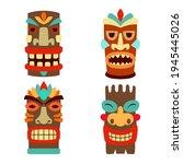 set of illustrations of tiki...   Shutterstock .eps vector #1945445026