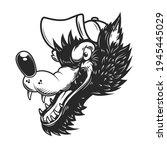 illustration of cartoon wolf in ...   Shutterstock .eps vector #1945445029