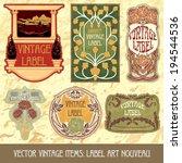 vector vintage items  label art ... | Shutterstock .eps vector #194544536
