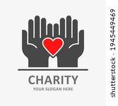 heart in hands icon. vector... | Shutterstock .eps vector #1945449469