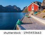 Red Wooden Fisherman's House In ...