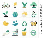 environment and green icons   Shutterstock .eps vector #194545940