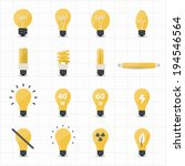 llight bulb icons | Shutterstock .eps vector #194546564