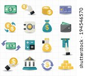 money and finance icons | Shutterstock .eps vector #194546570