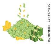 huge packs of paper money.... | Shutterstock .eps vector #1945474990