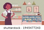 small scale business owner ... | Shutterstock .eps vector #1945477243