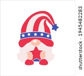 patriotic gnomes wear a top hat ...   Shutterstock .eps vector #1945482283