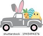 easter truck svg vector...   Shutterstock .eps vector #1945494376