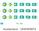 palau flag set  simple flags of ...   Shutterstock .eps vector #1945495873